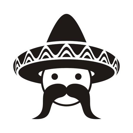 챙 넓은 모자와 큰 수염을 가진 흑인 남자의 얼굴