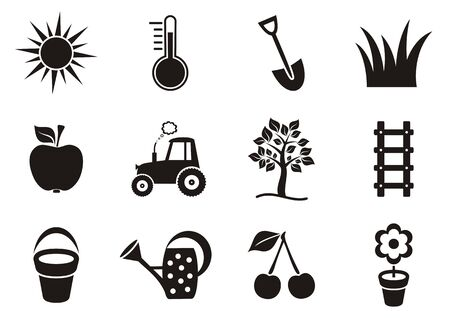 garden icons collection on white background Vector
