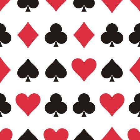 playing card symbols: Patr�n de vectores sin fisuras de los s�mbolos de tarjeta de juego
