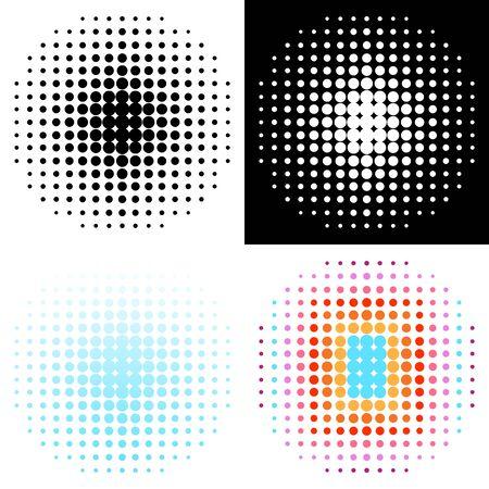 Ensemble de divers éléments de conception de demi-teintes Vecteurs