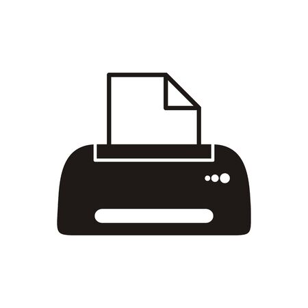 Black printer icon on white background Vector