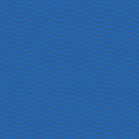 Seamless dark blue simple pattern with wavy lines Illustration