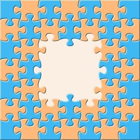 Kleurrijke vectorachtergrond met samengekomen raadselstukken