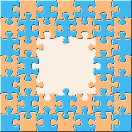 Colorful vector background with joined puzzle pieces