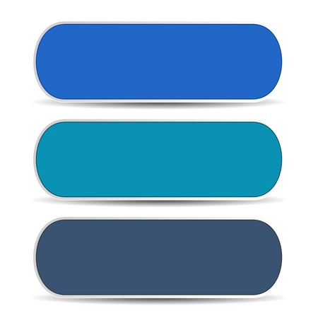 Set of three blue blank banners Vector