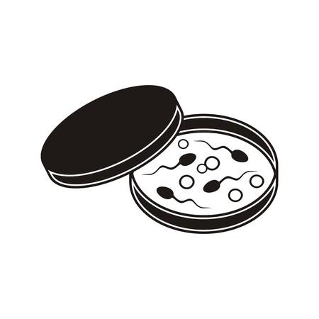 in vitro fertilization: Black vector in vitro fertilization icon on white