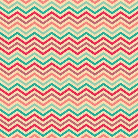 Seamless geometric ethnic zigzag pattern in retro colors