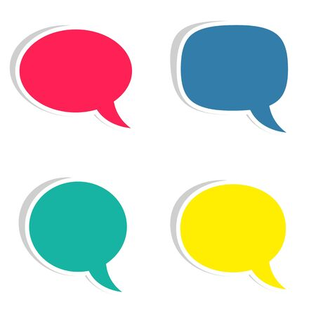 Set of colorful sticky speech bubbles vector illustration Vector