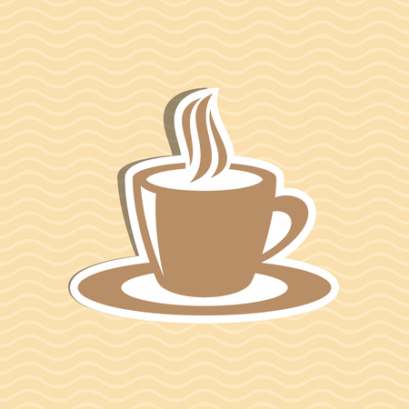 Brown cup of hot coffee icon vector illustration Vector