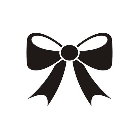 Zwarte vector strik pictogram op een witte achtergrond Stockfoto - 34149343