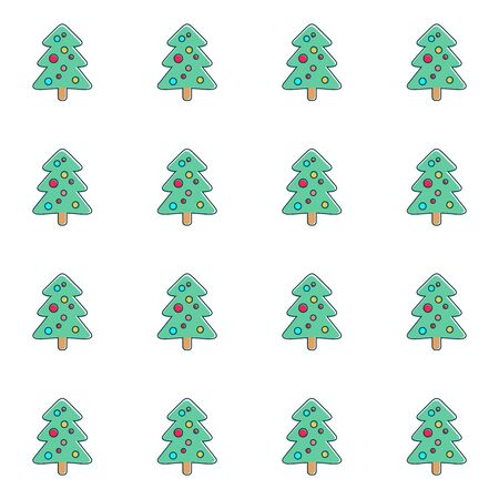Cute simple seamless christmas pattern with christmas tree Vector