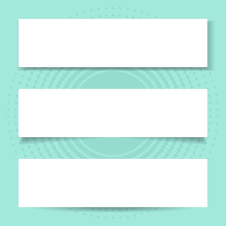 Blank banners with different transparent shadows Vector