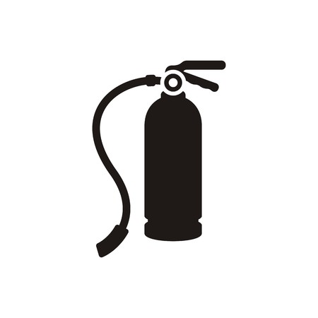 Simple black fire extinguisher icon isolated Vector