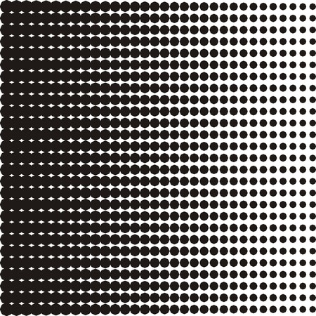 black dots: Vector halftone texture black dots on white background