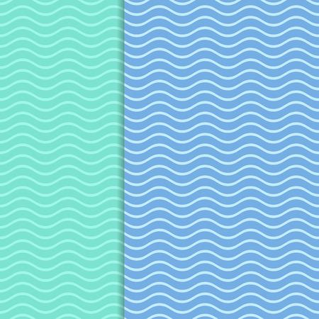 물결 모양의 라인과 블루 벡터 빈티지 카드 배경