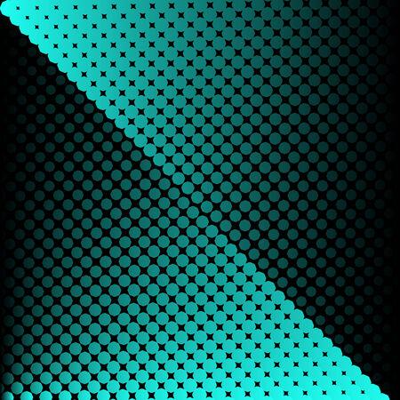 Vector halftone texture blue dots on black background Illustration