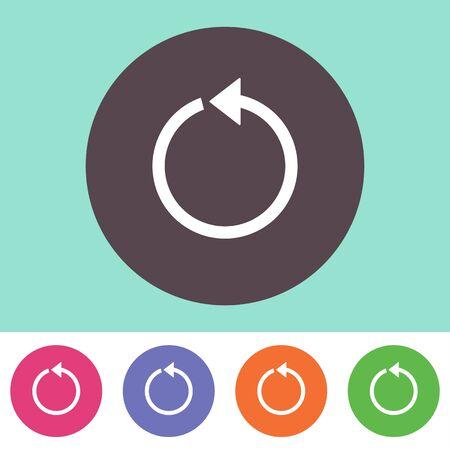reviser: Seul vecteur rechargement ic�ne sur boutons color�s rondes