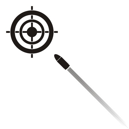 target practice: Vector target practice symbols with target and bullet Illustration