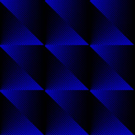 Vector halftone texture seamless pattern blue and black Vector