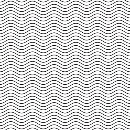 Black Seamless ligne ondulée vecteur forme illustration