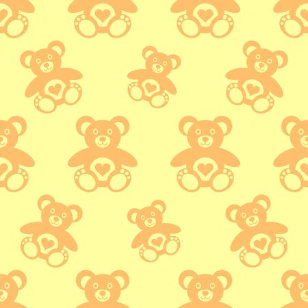 Vector seamless pattern with little cute teddy bears Illustration
