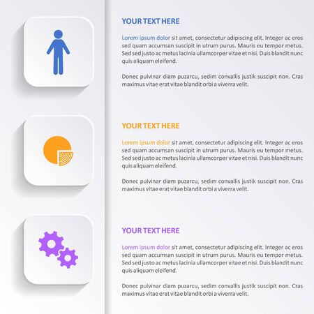 Business infographic design with colorful icons vector illustration