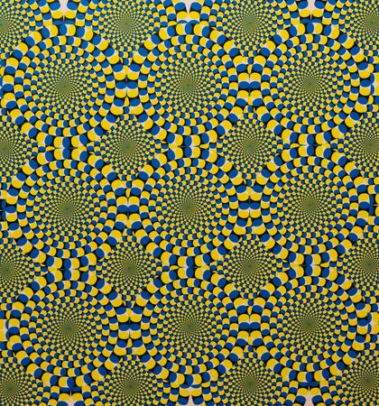 suprise: Blue and yellow spiral background