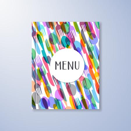 abstract food: Creative restaurant menu vector abstract brochure design template