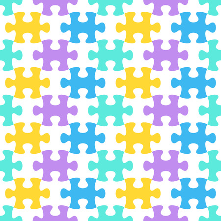 are joined: Colorful vector background with joined puzzle pieces