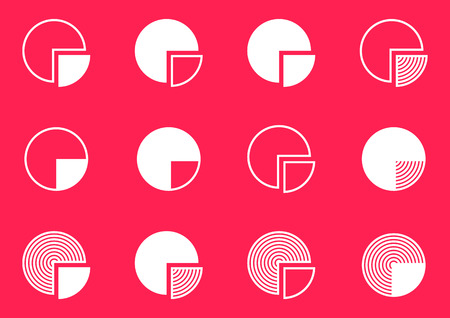 Modern flat design vector pie charts in various colors royalty free white vector creative pie chart diagram icons collection vector ccuart Gallery