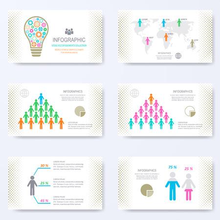 slides: template for presentation slides with demographic signs Illustration