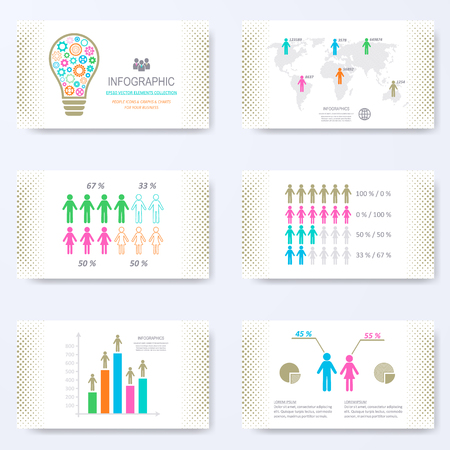 demographic: template for presentation slides with demographic signs Illustration