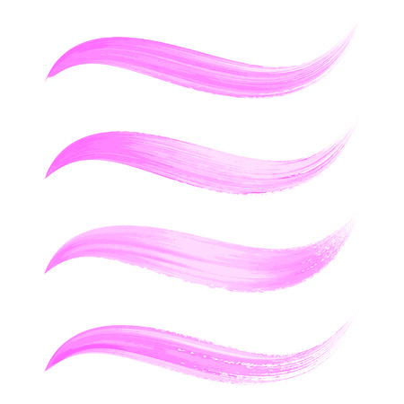 daub: Beautiful various vector pink watercolor brush strokes collection