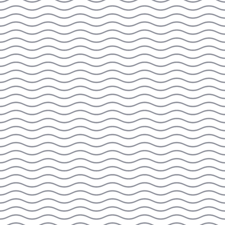 Simple gray seamless wavy line pattern vector illustration