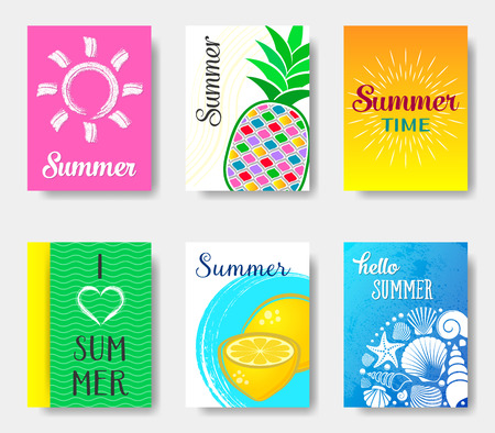 journal: bright journal summer cards collection