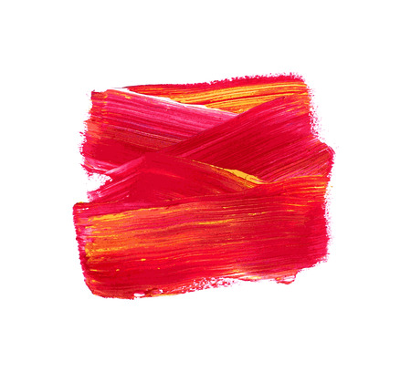 Red vector watercolor paint stain isolated on white Illustration