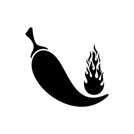 capsaicin: Vector flat pepper icon isolated on white