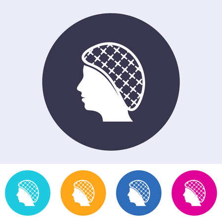 Single vector hairnets must be worn icon