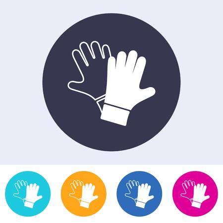 gants de protection de l & # 39 ; armée unique étant icône endommagée