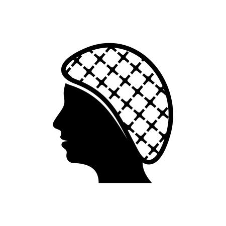 Vector hairnets must be worn icon Иллюстрация