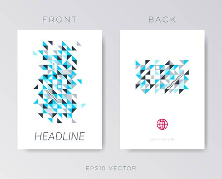 catalog: Modern vector brochure mosaic design