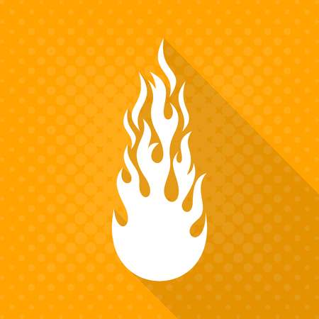 fireman: White vector fire flame icon