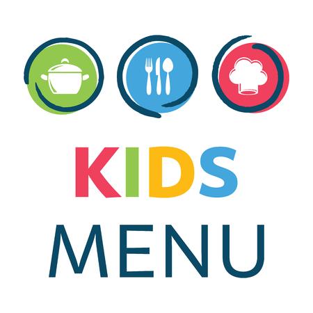 Creative kids menu design template, illustration. Illustration
