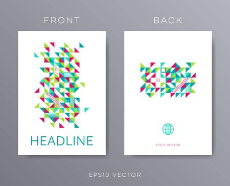 mag: Vector brochure design template mosaic Stock Photo