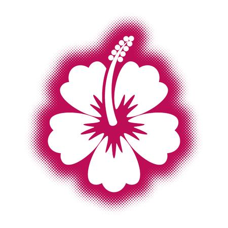Decorative vector hibiscus flower icon Фото со стока - 89710400