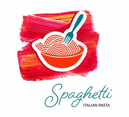 Spaghetti italian pasta creative design template vector illustration