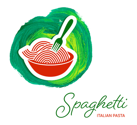 Vector spaghetti pasta creative design
