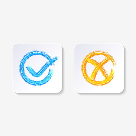 Vector check mark buttons Ilustrace