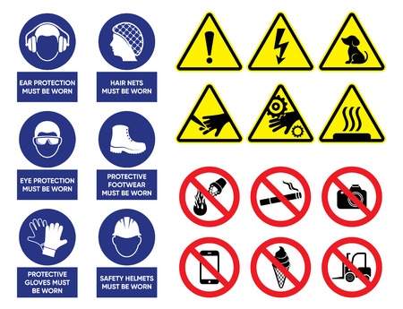 vecteur santé et signes de sécurité ensemble Vecteurs