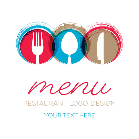 Abstract restaurant menu card design